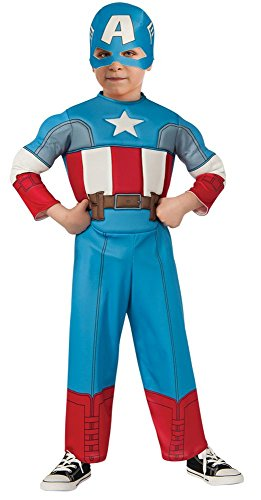 Captain America Toddler Costume Patriotic American Superhero Jumpsuit