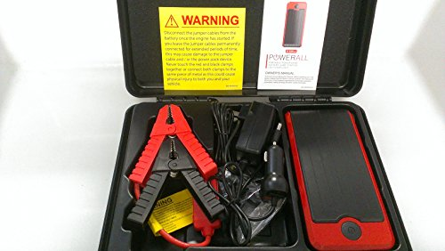 Powerall Supreme Portable Power Bank, Battery Jump Starter, Bright Led Flashlight With Case And Accessories