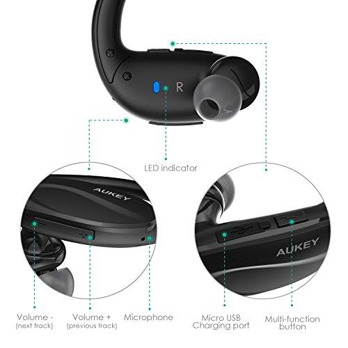 aukey bluetooth v4 1 sport headphones manual