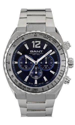 Gant W70143 - Reloj analógico para caballero de acero inoxidable azul