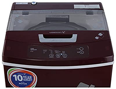 Videocon VT55H12 Digi Gracia Fully-automatic Top-loading Washing Machine (5.5 Kg, Dark Maroon)