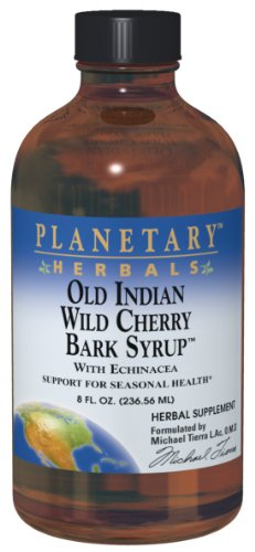 Planetary Herbals Old Indian Wild Cherry Bark Syrup, With Echinacea , 8-Ounce (Pack Of 2)