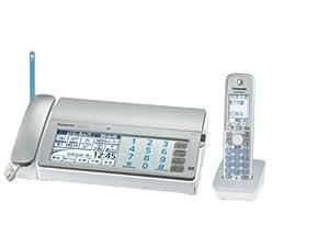 Panasonic デジタルコードレスFAX 子機1台付き 1.9GHz DECT準拠方式 シルバー KX-PD701DL-S