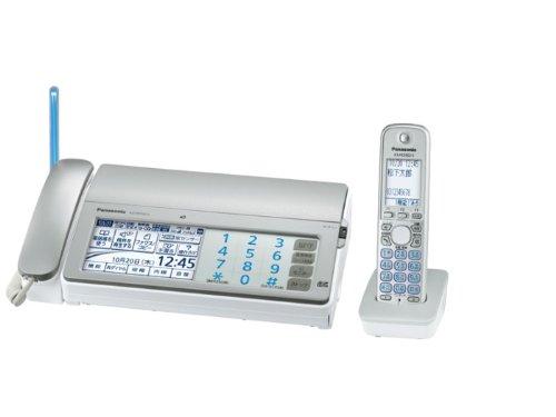 Panasonic デジタルコードレス普通紙ファクス シルバー 子機1台付き (A4送信/A4受信) KX-PD701DL-S
