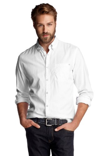 Esprit Collection Men's 072Eo2F010 Casual Shirt White (White 100) 39/40