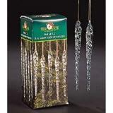 Kurt Adler 5-1/4-Inch Glass Icicle Ornament 12-Piece Box Set