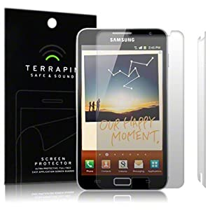 SAMSUNG GALAXY NOTE SCREEN PROTECTOR CASE / GUARD / FILM / COVER, 2-IN-1 PACK BY TERRAPIN