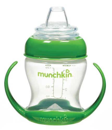 Munchkin Flexi Transition Cup, Green, 4 Ounce