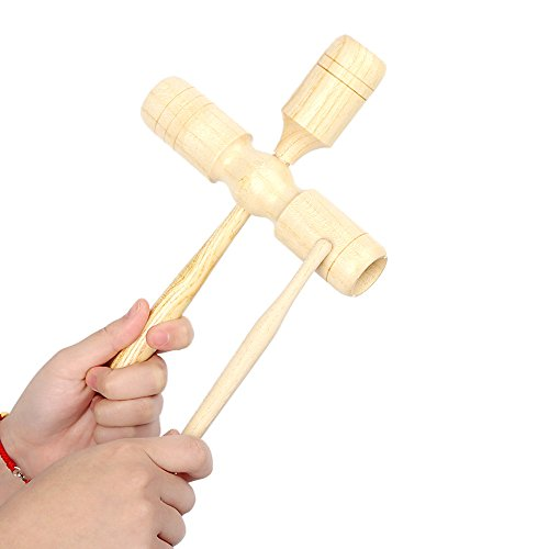 Andoer Wooden Crow Sounder Three Tone Detachable Exquisite Kid Children Musical Toy Percussion Instrument