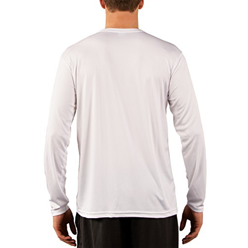 Vapor Apparel Men's UPF Long Sleeve Solar Performance T-Shirt Large White