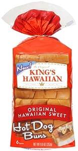 King's Hawaiian Hot Dog Buns 6pk Package (Pack of 2) from King's Hawaiian