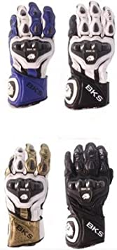 BKS esfinge Gants de moto en cuir moto gants en cuir Racing Race d'été J & S