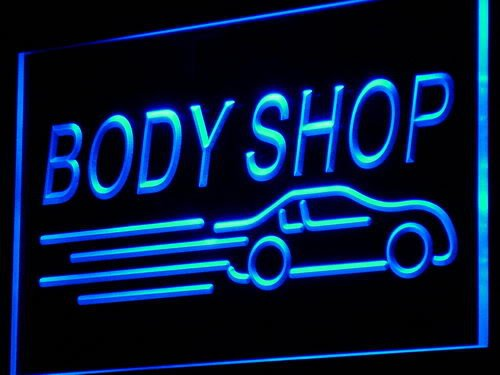 Adv Pro I821-B Body Shop Auto Car Display New Neon Light Sign
