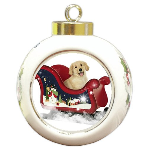 Golden Retriever Christmas Holiday Ornament