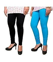 Megha Cotton Leggings Combo of 02 (LL14_Multicolour)