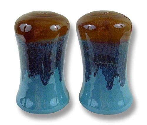 Clay In Motion Handmade Ceramic Salt & Pepper Shaker Set - Ocean Tide