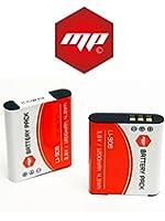 2 x batteries li-90b , LI90B pour Olympus - PUISSANCE 1200 mAh - MP EXTRA®