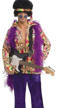 Mens Adult Halloween Costumes Hippie Hippy Psychadelic