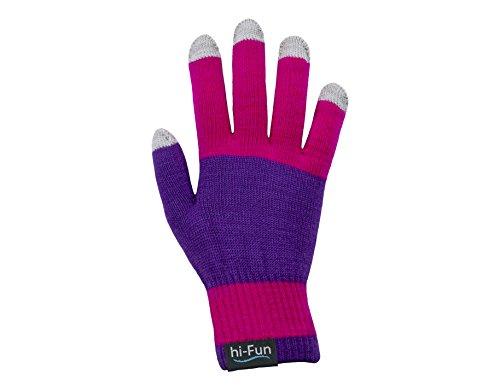 Hi-Fun hi-Glove Guanto Bluetooth per Smartphone, Rosa