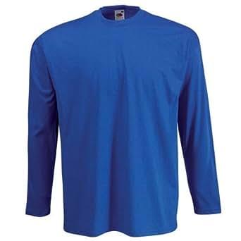 Long Sleeve Fruit of the Loom T-Shirt - Royal Blue XXL