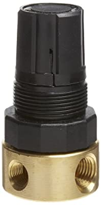 Parker R36 Miniature Series Brass Regulator, Relieving Type, NPT