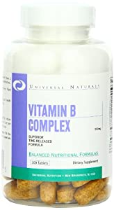 Universal Nutrition System Vitamin B Complex 100 Tablet Bottle,  (Pack of 2)