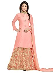 Sitaram womans semistitched georgette-net kurta plazzo with embroidery type dress material.