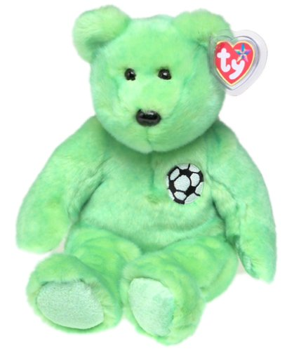1 X TY Beanie Buddy - KICKS the Soccer Bear - 1
