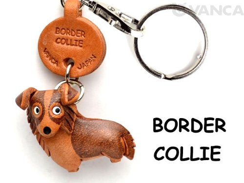 border-collie-leather-dog-small-keychain-vanca-craft-collectible-keyring-made-in-japan