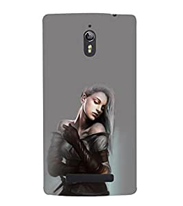 printtech Beautiful Anime Cute Girl Back Case Cover for Oppo Find 7