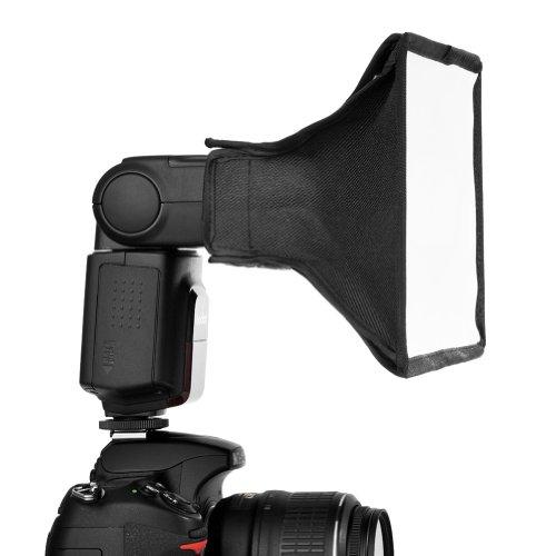 "Neewer® 6""x8"" Softbox / 20x15cm Diffusore a Cupola Semitrasparente Portatile per Flash, Speedlight, NEEWER TT520 TT560 TT660, Nikon SB-900 AF, SB-800 AF, SB-700 AF, SB-600, SB-400 AF, Canon Speedlite 380EX, 430EX, II, 550EX, 580EX, II, 600EX-RT, Vivita Flash, Sunpack, Nissin, Sigma, Sony, Pentax, Olympus, Panasonica Lumix Flash"