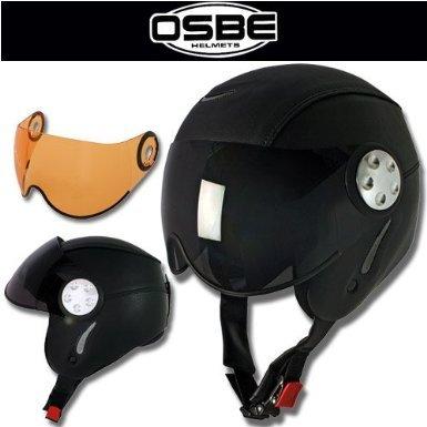 OSBE Skihelm Snowboardhelm Ski Helm PROTON schwarz Leder, Gr.S(55-56cm)