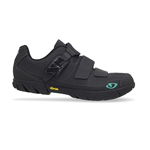 Giro Terradura Mountain Shoes - Women's Black/Dynasty Green, 38.0 (Giro Cycle Shoes Womens compare prices)