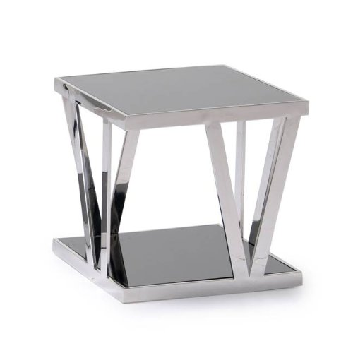 Cheap CE21 Square End Table w/Tinted Glass By Diamond Sofa (CE21)