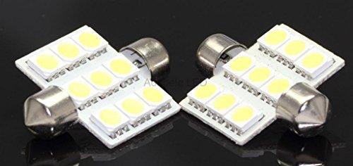 2X White 5050 9 Led Map Dome Interior Light Bulb 36Mm Festoon 211-2 578 569 L87 @ 579, 212-2, 214-2 Compare To Sylvania Osram Phillips Piaa