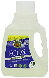 Earth Friendly Products Proline PL9764/08 ECOS Free and Clear Liquid Laundry and Microfiber Detergent, 50oz Handle Bottles (Case of 8)
