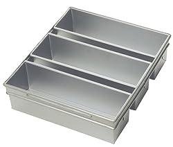 Focus Foodservice Commercial Bakeware 3-Strap Pullman Pan Set