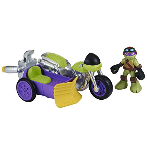 Teenage Mutant Ninja Turtles Pre-Cool Half Shell Heroes Motorcyle and Sidecar with Donatello Vehicle and Figure - 1