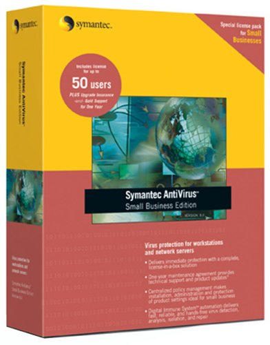 Symantec Antivirus Small Business Edition 8.1 For Workstations & Network Servers 50 User