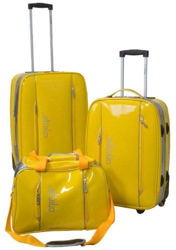 Kofferset 3tlg Reisekoffer Kunststoff-Folie LUNA