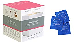 Jimmyjane Afterglow Natural Massage Oil Candle (Pink Lotus) + FREE Pure Instinct Pheromone Infused Perfume Cologne (3 Packets)