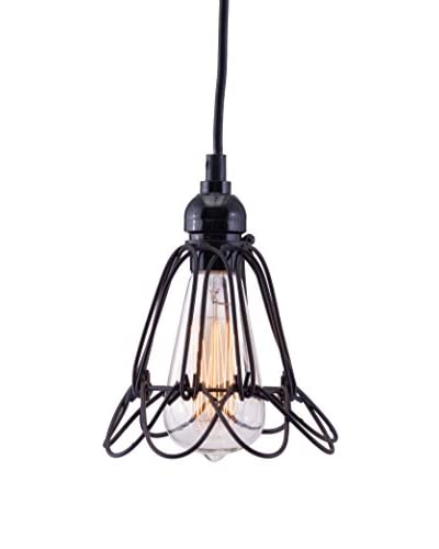 Zuo Hastings Ceiling Lamp, Distressed Black