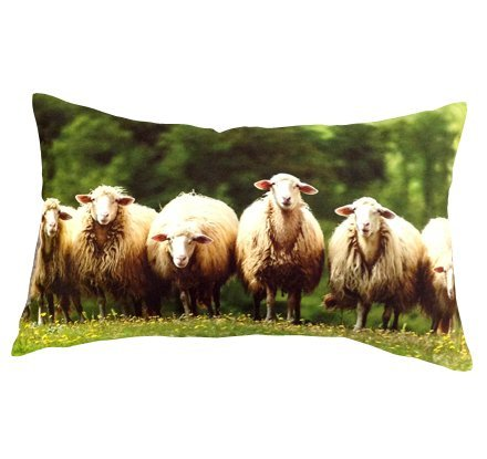 Artiwa Sheep Cotton & Soft Velvet Sofa Couch Long Throw Decorative Pillow Cover 12X20 Inch front-110611