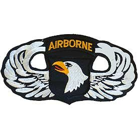 US Army Large Jacket or Shirt Stitch Patch - 101st Airborne Wings XL 6