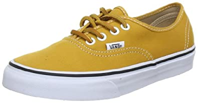 Vans U AUTHENTIC (BRUSHEDTWILL)M VSCQ7GN, Unisex-Erwachsene Sneaker,  Gelb ((BrushedTwill)M), EU 35