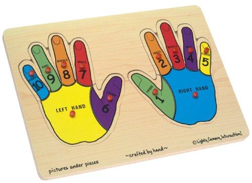 Cheap Melissa & Doug Hands Counting Peg Puzzle (B00004WHNL)