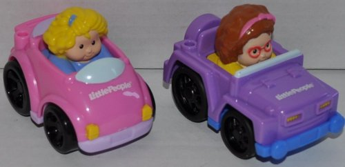 41QBR7TVMKL Buy  Little People Wheelies Maggie (In Jeep) & Sarah Lynn (In Car) (2009)   Replacement Figure   Classic Fisher Price Collectible