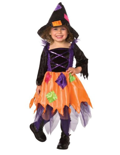 Baby-Toddler-Costume Patchwork Witch Toddler Costume 1-2 Halloween Costume