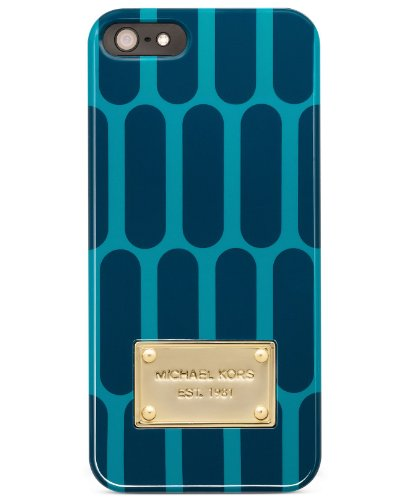 Best Price Michael Kors Iphone 5 Case Americana Turquoise/navy