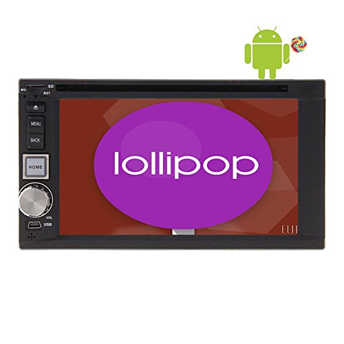 Android 5.1.1 Lollipop Car Radio Audio Stereo Quad Core Double Din Univresal In Dash Headunit 6.2''Multi-Touch screen Support GPS Navigation DVD CD Player SWC USB SD OBD2 1080P with Multimedia System (Advance Auto Gift Card compare prices)